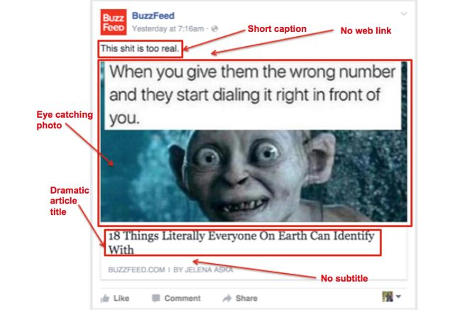 Source Screen capture via BuzzFeed Page Mark up is original