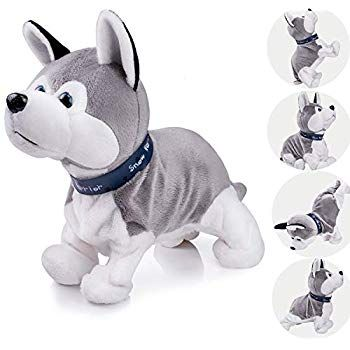 Interactive Puppy Plush Animated Pet Electronic Dog Cute Robot Dog Baby Toys Touch Control Plush Husky Stuffed Animal Dog Toy Toddler kids Girl Toys