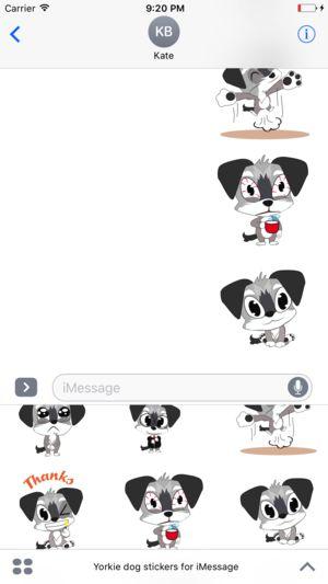 Yorkie dog emoji & stickers 4