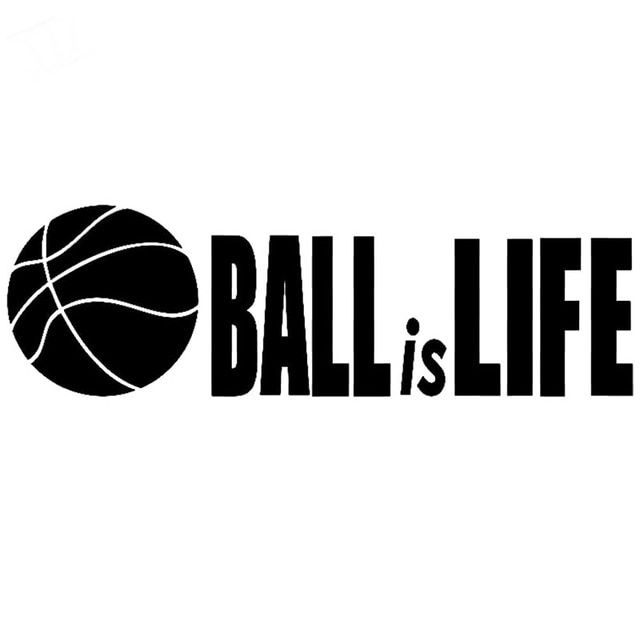 16CM 7 1CM Basketball Is Life Sticker Vinyl Decal Car Sticker Basket Net Ball Car Stylings Accessories Black Sliver