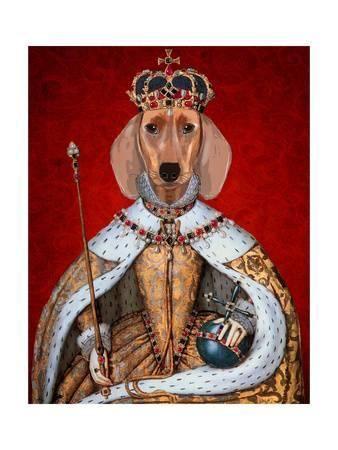 fab funky dachshund queen u L Q11A80W0