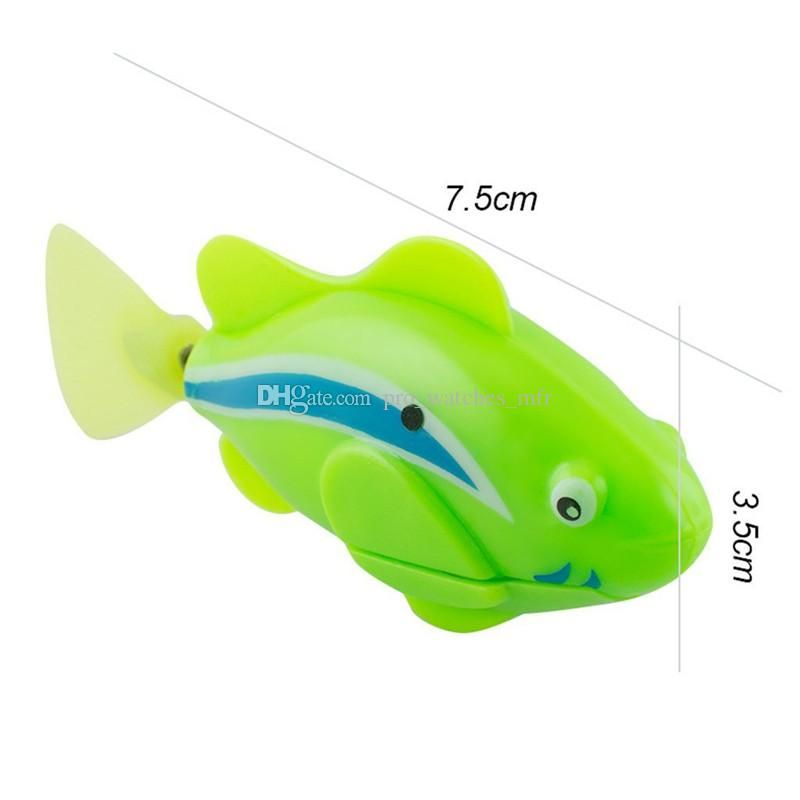 Funny Swim Electronic Robofish Toys Activated Battery Powered Robo Toy fish Robotic Pet for Fishing Tank