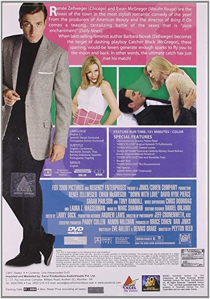 Amazon Buy Down with Love DVD Blu ray line at Best Prices in India