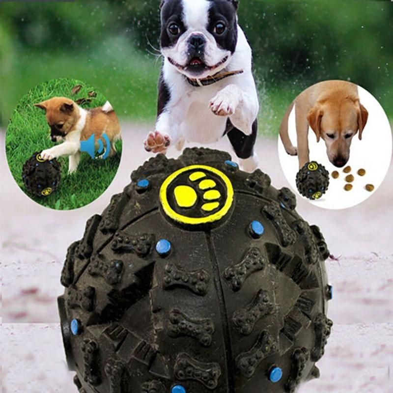 Pet Puppy Dog Ball Toys Squeaky Quack Sound Chew Treat Holder Funny Play Ball Toys Stroage Food Ball S M L WX G18 Dog Toys Toys Dog line with $4 28 Piece
