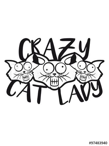 crazy cat lady crazy funny ic cartoon cats Team Party group of friends stupid