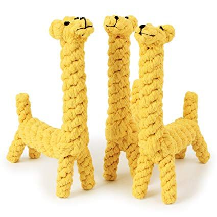 KeeKit Dog Puppy Pets Gift Cotton Animal Giraffe Durable Chew Toy Small Medium Pet