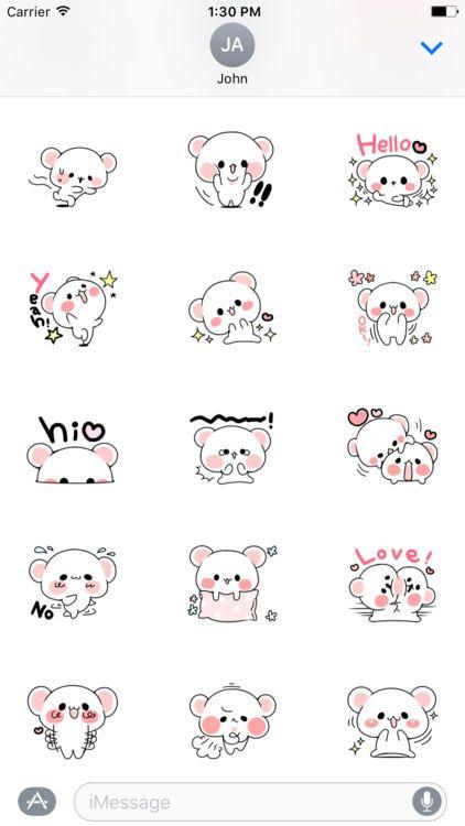 Cute Bear Love Life Sticker screenshot 1