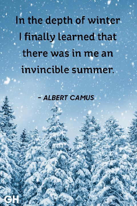 Albert Camus winter quotes