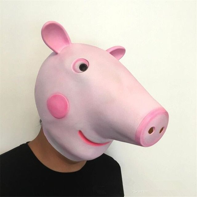 Anime Movie Zoology Pink Pig Mask Cosplay Costumes Accessories Props Pink Cute Fancy Halloween Mask