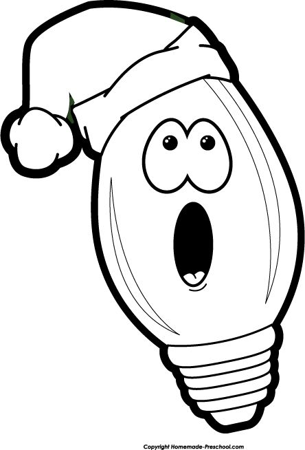 Christmas Lights Clipart Black And White
