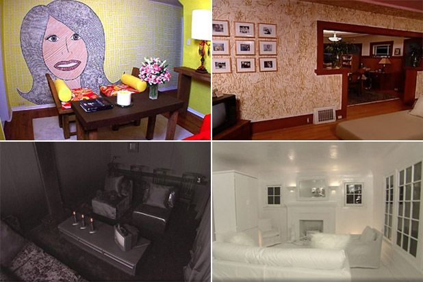 13 Worst Trading Spaces Designs From the Sob Inducing Fireplace to Straw Covered Walls s