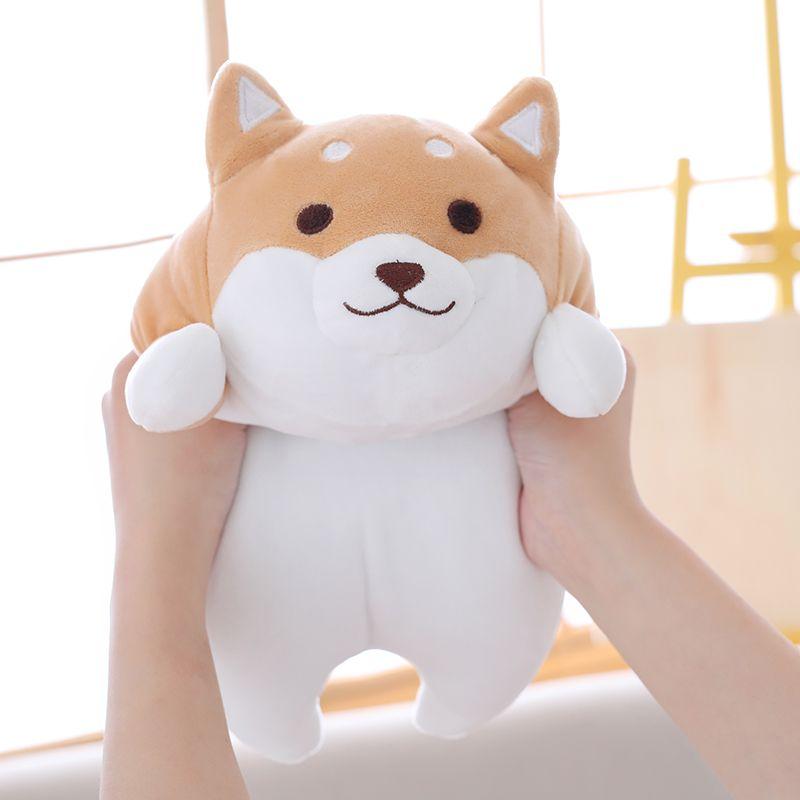Cute Fat Shiba Inu Dog Plush Doll Toy Kawaii Puppy Dog Soft Stuffed Animal Cartoon Pillow