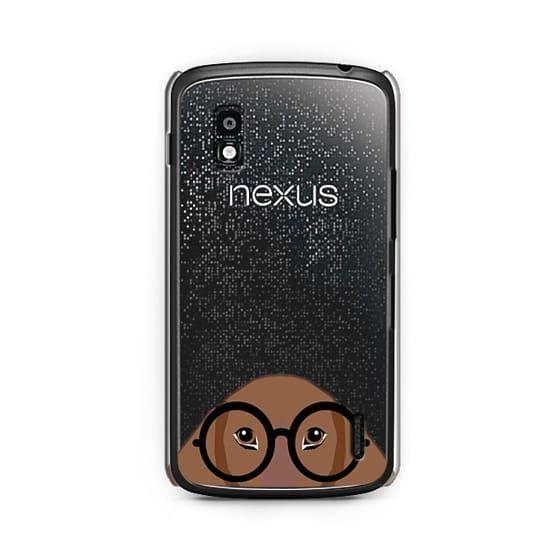 Nexus 4 Cases Funny glasses dog meme cute puppy dachshund dog cell phone wiener dog