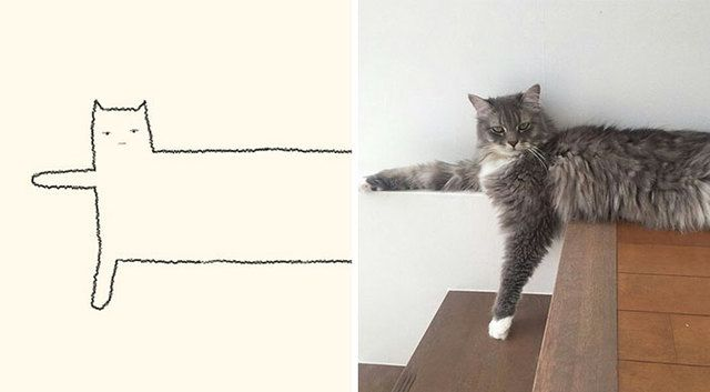 10 Times Stupid Cat Drawings Made Everyone Laugh With How Accurate They Were