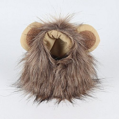 Allwin Funny Pet Cap Cosplay Lion Shape Hat Doggy Kitty Lion Hat fortable Cat Hat brown M Best Price