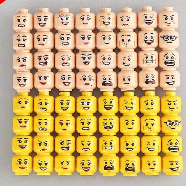 Practical Jokes Head Face Expression Diy Figures Marvel DC Suicide Squad Funny 16pcs lot Single Bricks Figure Kids Toys Hobbies