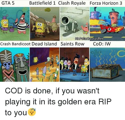 Crash Bandicoot Memes and Gta 5 Battlefield 1 Clash Royale Forza Horizon 3