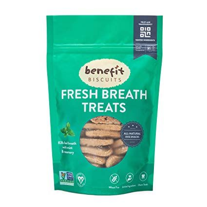 Benefit Biscuits Fresh Mint Dog Biscuits Healthy All Natural Certified Vegan Dog Biscuits