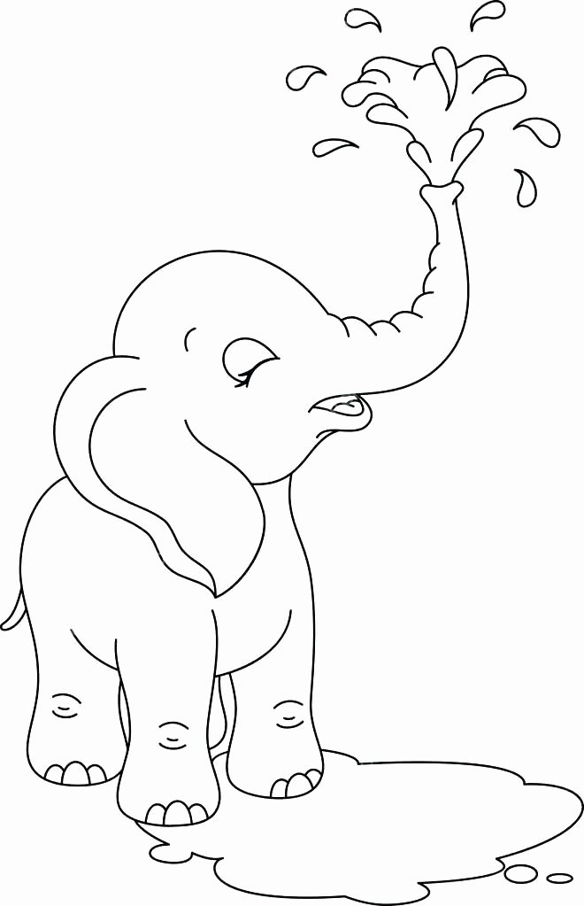 Baby Dumbo Coloring Pages Elegant Baby Elephant Coloring Pages Cute Baby Elephant Coloring Pages Free