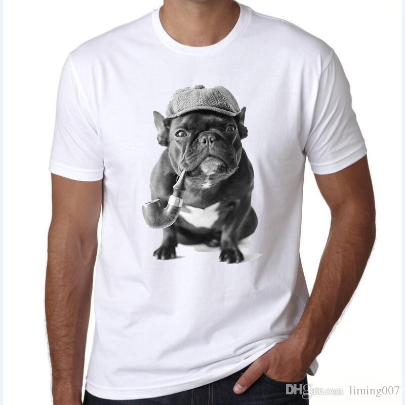 Summer 2018 Fitness T Shirt Men French Bulldog Punk Graphic Tees Street Fashion Funny T Shirts Designer Streetwear Tshirts Clever T Shirts Best Tee Shirts