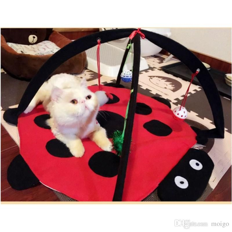 Pet Cat Funny Hammock Bed And Toy Kitten Cat Play Sleeping Furniture Tent with Balls Cat Play House Pet Cat Hammock Bed line with $9 6 Piece on Moigo s