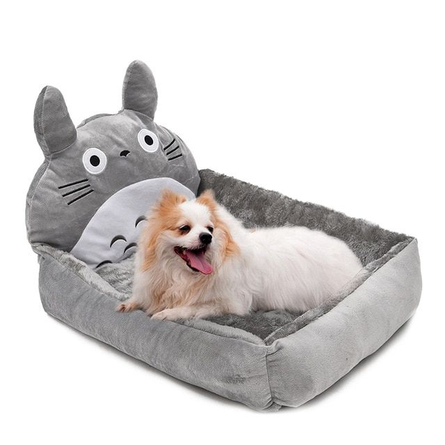 Super Cute Soft Pet Bed Dog Cat Bed Lovely Cartoon Shape Puppy Kennel Short Fluff Material Pet Cushion Creative Novel Design