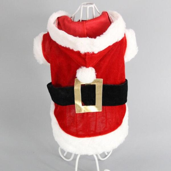 small dog Christmas clothes pet hooded clothes fleece apparel costume cute coat dog Cosplay Pet Party clothing for dog Cardigan PD034