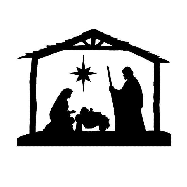 Nativity Scene Christmas Wall Fashion Car Styling Funny Sticker Vinyl Decal Car Window Jdm