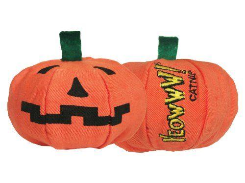 Halloween Jack o Lantern Catnip Toy This fun cat