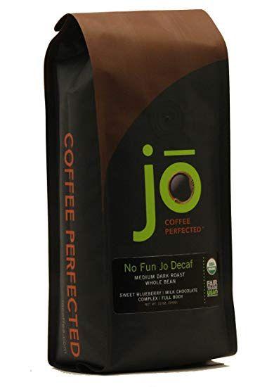 NO FUN JO DECAF 12 oz Organic Decaf Coffee Swiss Water Process