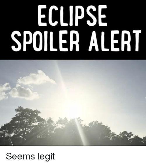 Memes Eclipse and 🤖 ECLIPSE SPOILER ALERT Seems legit