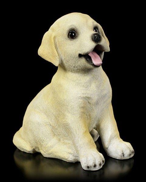 Dog Garden Figurine Cute Labrador Puppy