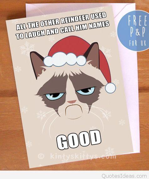 grumpy cat xmas card