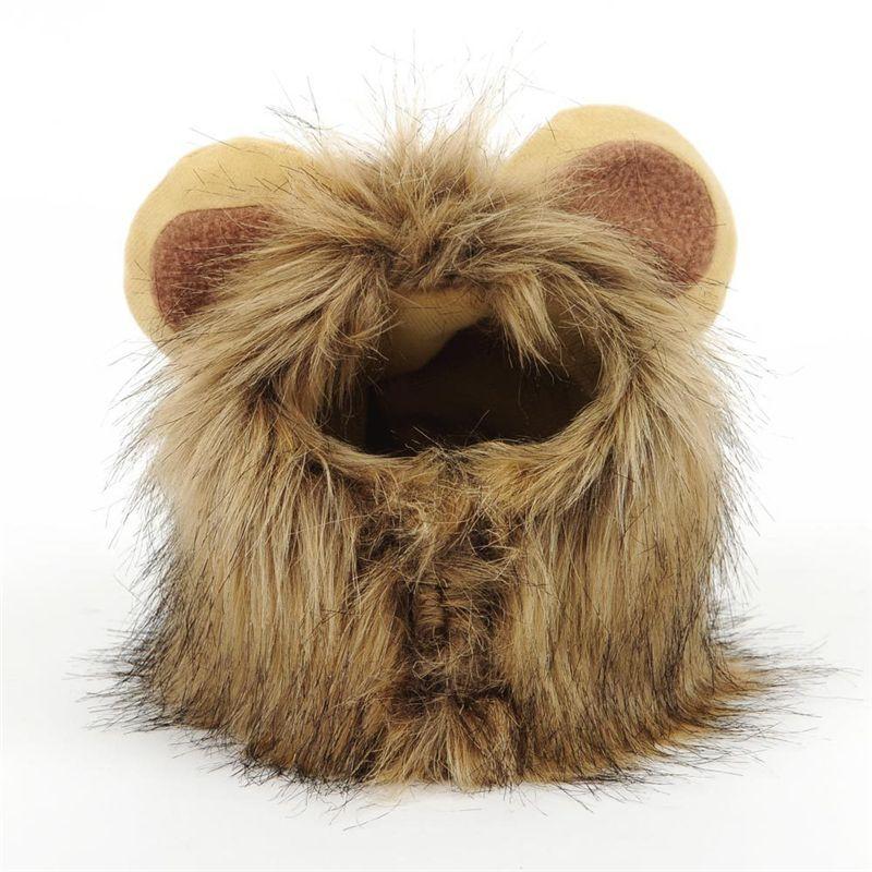 Details about Funny Pet Dog Puppy Cat Hat Costume Lion Mane Wig Costume Halloween Decoration