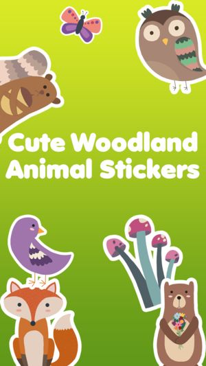 Woodland Animals Cute Animal Stickers 4