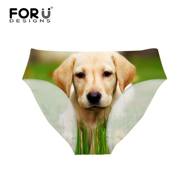 FORUDESIGNS Newest Women y Briefs Underwear Cute 3D Dog Animal Transparent Panties For Girls Breathable Seamless Female Panty
