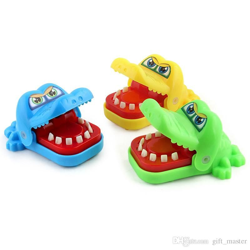 Crocodile Dentist Game Toys Cartoon Animal Big Mouth Bite Fingers Prank Game Shocker Toys Crocodile Teeth Game Funny Toy Best Stress Toys Executive Stress