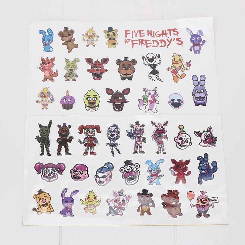 FNAF Five Nights at Freddy s Party Favors Characters Sticker Freddy Chica Bonnie Cupcakes Baby Ballora Funtime Freddy Motivational Stickers Five Nights at