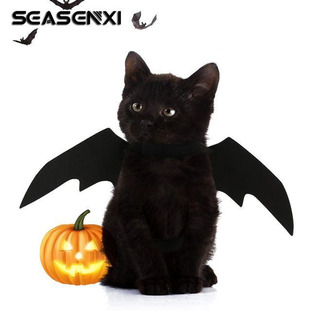Bat Wing Clothes For Cats Puppy Dogs Funny Costume For Cat Kitten Halloween Party Dog Cat