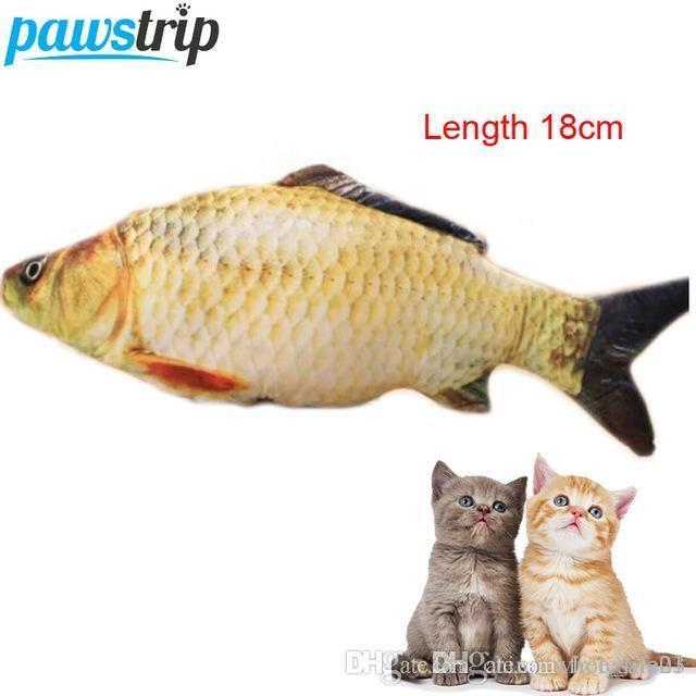 Funny Cat Toy Simulation Fish PP Cotton Padded 18cm Long Pet Dog Toys Hot Sale Simple Cat Toys Simple Cat Toys To Make From Free life03 $2 13 DHgate