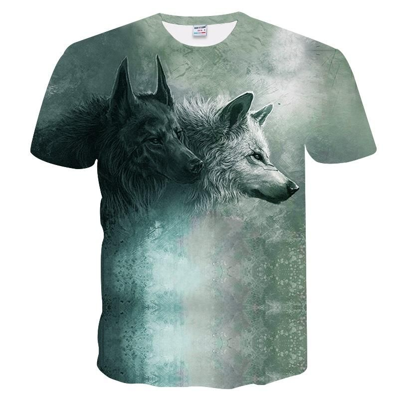 BIANYILONG Wolf T Shirts 3D Men T Shirts Novelty Animal Tops Tees Male Short Sleeve Summer Round Neck Tshirts Buy Funny Shirts Interesting Tee Shirts From