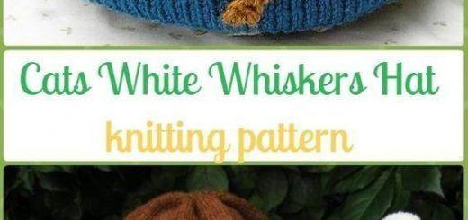 Knitting Patterns Funny Knit Cat White Whiskers Hat Paid Pattern – Fun Kitty Cat Hat Knitting Patterns knittingneedles