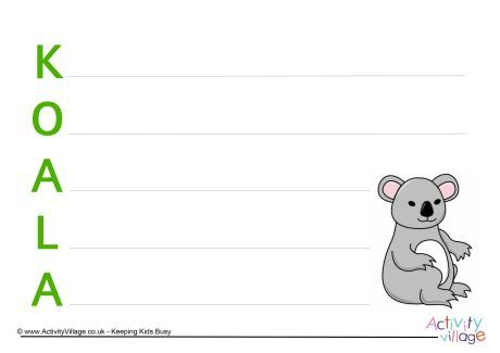 Koala Acrostic