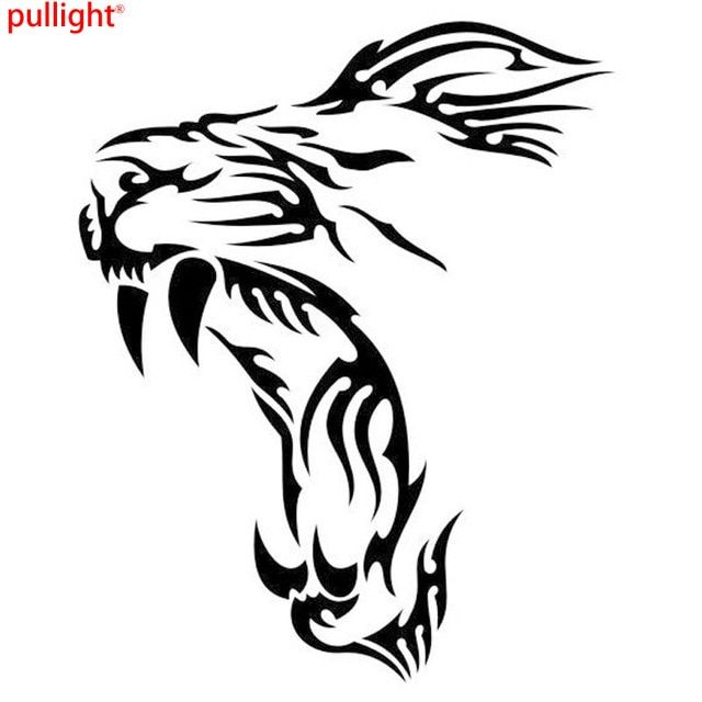 Cool Graphics Yawn Lion Funny Vinyl Decals Motorcycle Car Stickers Car Styling