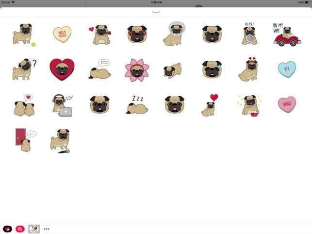 Pug Love Animated Dog Stickers on the App Store
