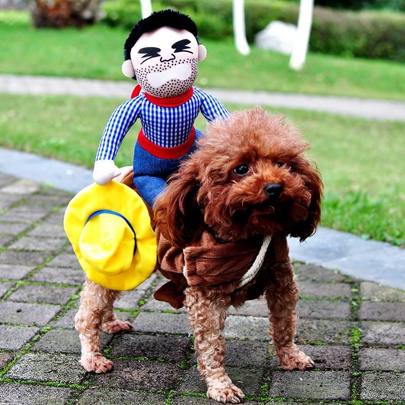 2019 Novelty Funny Halloween Dog Costumes Pet Clothes Cowboy Dressing Up Jacket Coats For Small Medium Dogs Chihuahua Yorkshire From Yiruishen