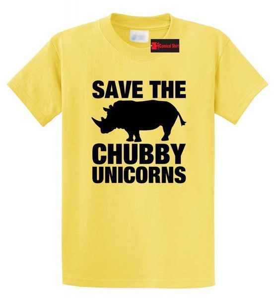 Save The Chubby Unicorns Funny T Shirt Rhino Unicorn Horse Lover Gift Tee Shirt Funny free shipping Uni Casual top