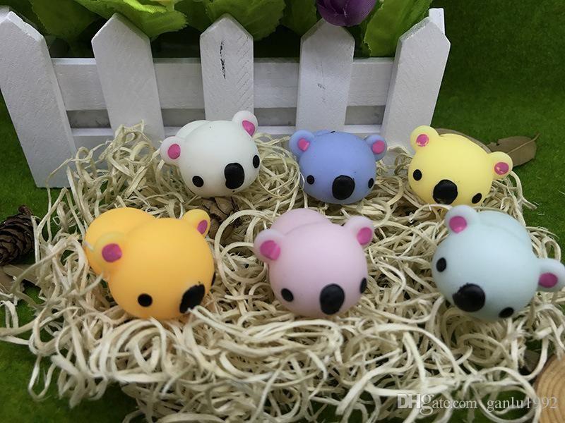 Cartoon De pression Ball TPR Animals Doll Toy Squishy Bear Vent Balls For Children Funny Dolls Factory
