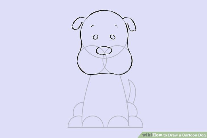 Image titled Draw a Cartoon Dog Step 6