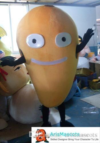Adult Funny Mango Mascot Costume Custom Made Mascots For Advertising Team Mascot Custom Mascots Fruit Deguisement Mascotte Pirate Costume Dog Costumes From